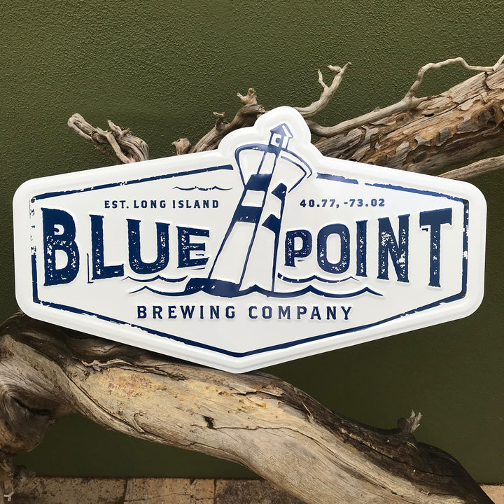 Blue Point Brewing Company Logo Tin Tacker Metal Beer Sign