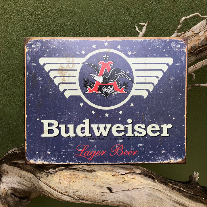 Budweiser Lager Beer Retro Metal Beer Sign Tin Tacker