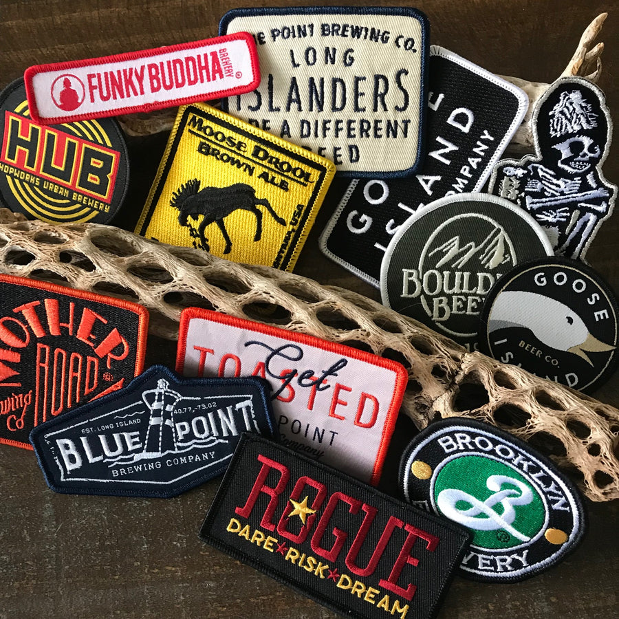 Brewing Company Logo Embroidered Patch Collection ~ Set of 14