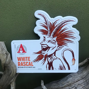 "Avery Brewing Co ""White Rascal Belgian-Style White Ale"" Tin Tacker Metal Beer Sign"