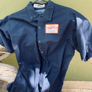 Vintage Men's Work Shirt Size XL with Blue Point Brewing Get Toasted Embroidered Patch