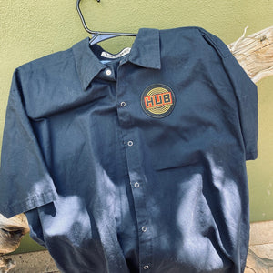 Men's Work Shirt Size XXL 2XL with Hopworks Urban Brewery Embroidered Patch