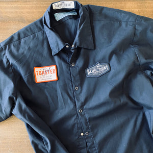 Men's Work Shirt Size XXL with Blue Point Brewing Embroidered Patches
