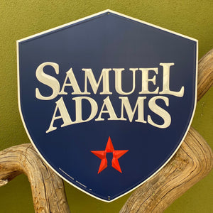 Samuel Adams Sam Adams Shield Logo Tin Tacker Metal Beer Sign