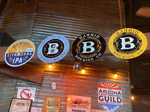 Barrio Brewing Co Black Logo Tin Tacker Metal Beer Sign
