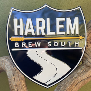Set of 2 Harlem Brew South and Harlem Brewing Co Sugar Hill Metal Beer Signs