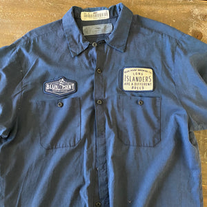 Vintage Men's Work Shirt Size XL with Blue Point Brewing Co and Long Islanders Embroidered Patches