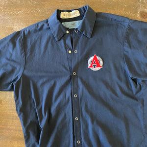 Vintage Men's Work Shirt Size M with Avery Brewing Co Embroidered Patch