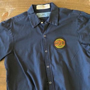 Vintage Men's Work Shirt Size M with HUB Hopworks Urban Brewery Embroidered Patch