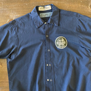 Vintage Men's Work Shirt Size M with Boulder Beer Co Embroidered Patch