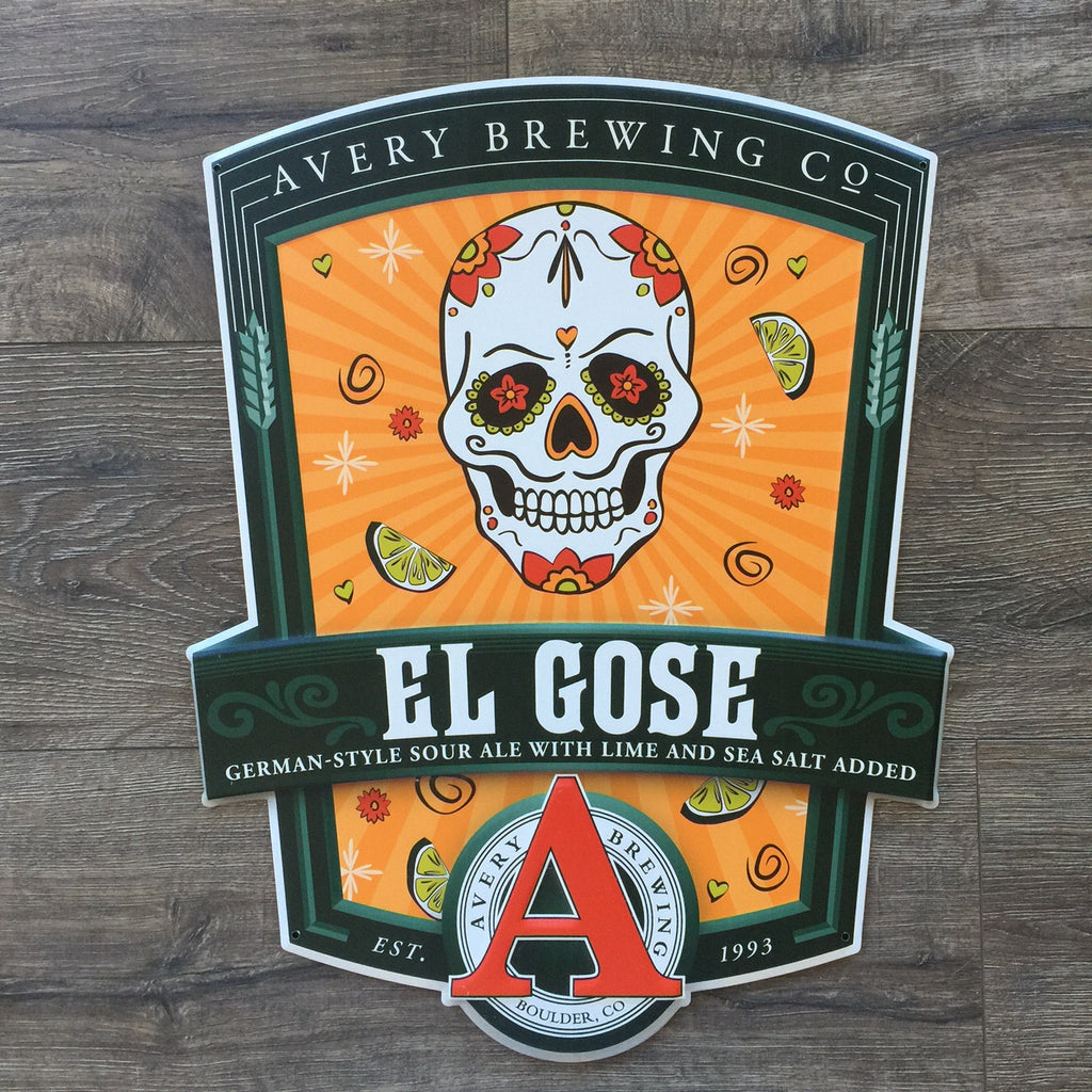 Avery Brewing Co El Gose Sour Ale Tin Tacker Metal Beer Sign