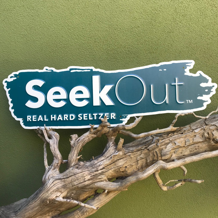 Seek Out Real Hard Seltzer Tin Tacker Metal Beer Sign