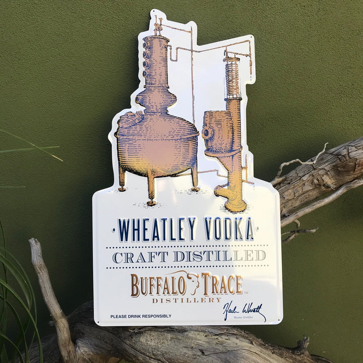 Buffalo Trace Distillery Wheatley Vodka Tin Tacker Metal Beer Sign