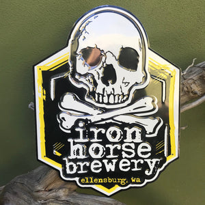 Iron Horse Brewery Logo Tin Tacker Metal Beer Sign