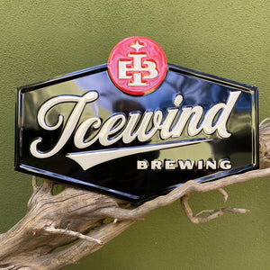 Icewind Brewing Logo Tin Tacker Metal Beer Sign