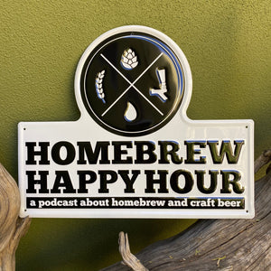 Homebrew Happy Hour Tin Tacker Metal Beer Sign