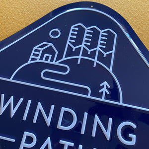 Winding Path Brewing Co Tin Tacker Metal Beer Sign