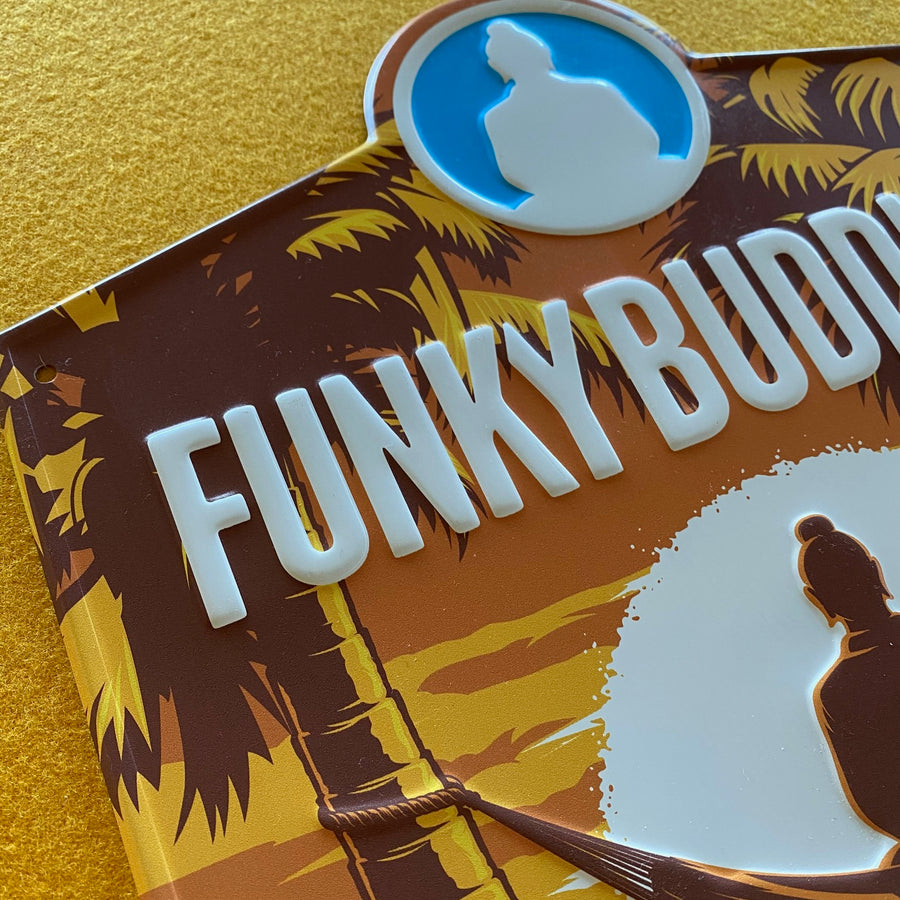 Funky Buddha Brewery Floridian Wheat Beer Tin Tacker Metal Beer Sign