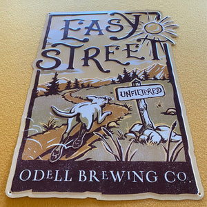 "Odell Brewing Co ""Easy Street"" Tin Tacker Metal Beer Sign"