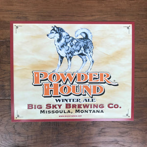 Big Sky Brewing Co Powder Hound Tin Tacker Metal Beer Sign