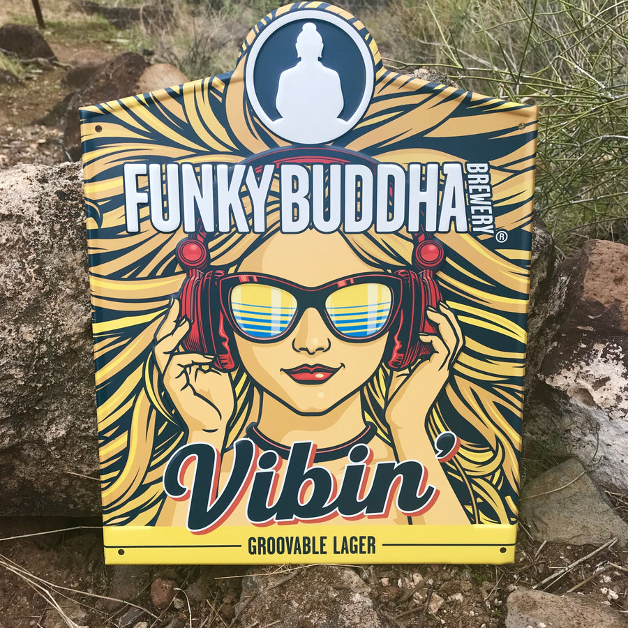 Funky Buddha Brewery Vibin' Groovable Lager Tin Tacker