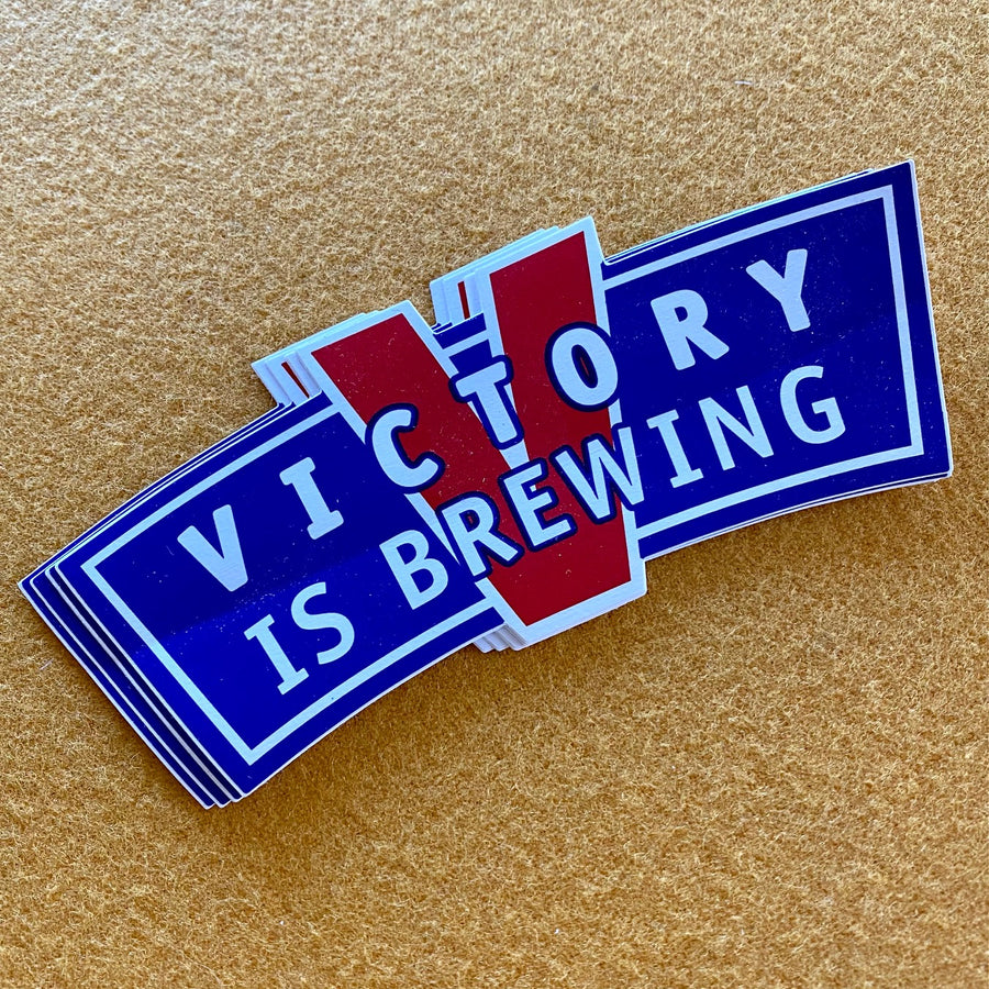 Victory Brewing Co Vintage Logo Die Cut Sticker