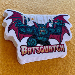 Rogue Ales Batsquatch Die Cut Sticker