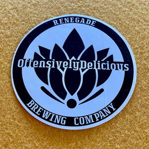 "Renegade Brewing Co ""Offensively Delicious"" Die Cut Sticker"