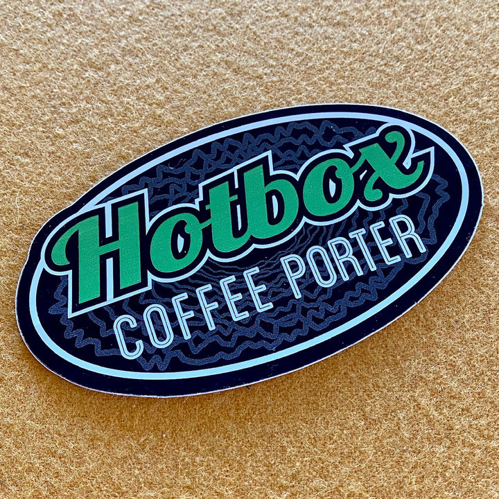 Oskar Blues Hotbox Coffee Porter Die Cut Logo Sticker