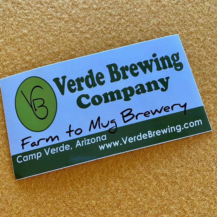 Verde Brewing Company Camp Verde, Arizona Logo Sticker