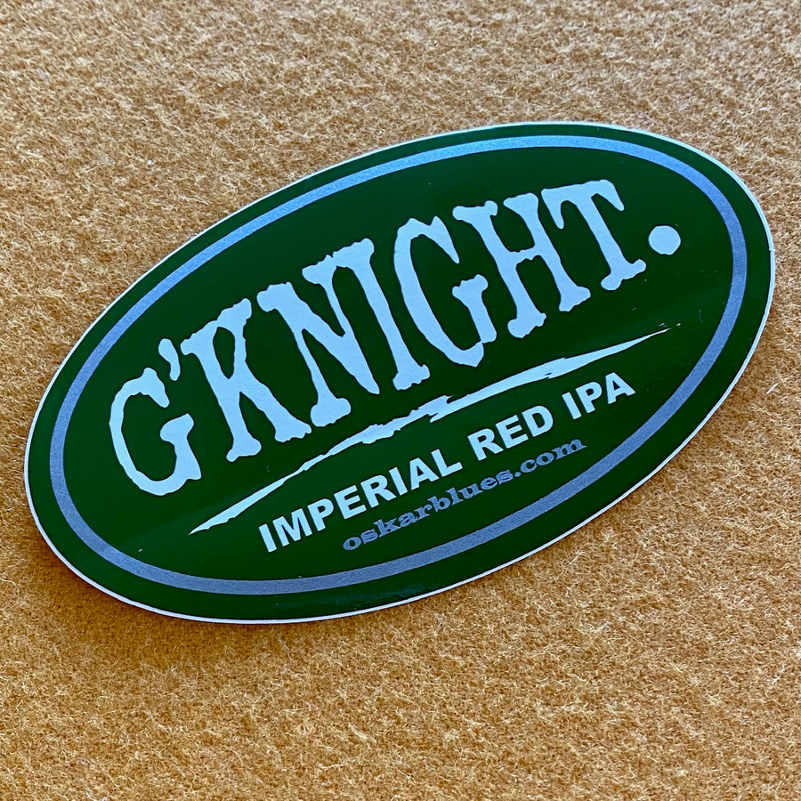 "Oskar Blues ""G'Knight Imperial Red IPA"" Die Cut Sticker"