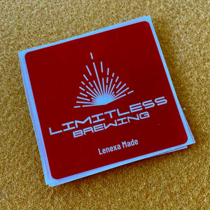 Limitless Brewing Square Logo Sticker