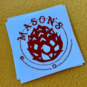 Mason's Brewing Co Logo Sticker