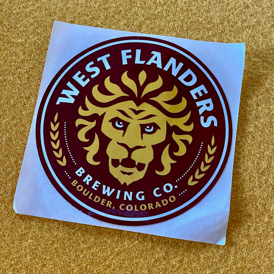West Flanders Brewing Co Logo Sticker