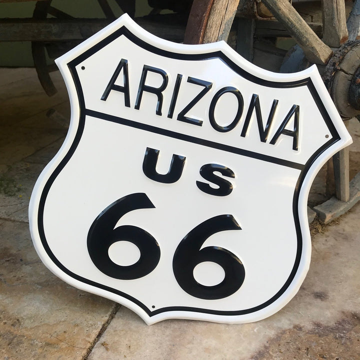 Arizona Route 66 Highway Metal Sign Tin Tacker