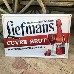 Belgian Beer Sign Tin Tacker Liefmans Cuvee-Brut