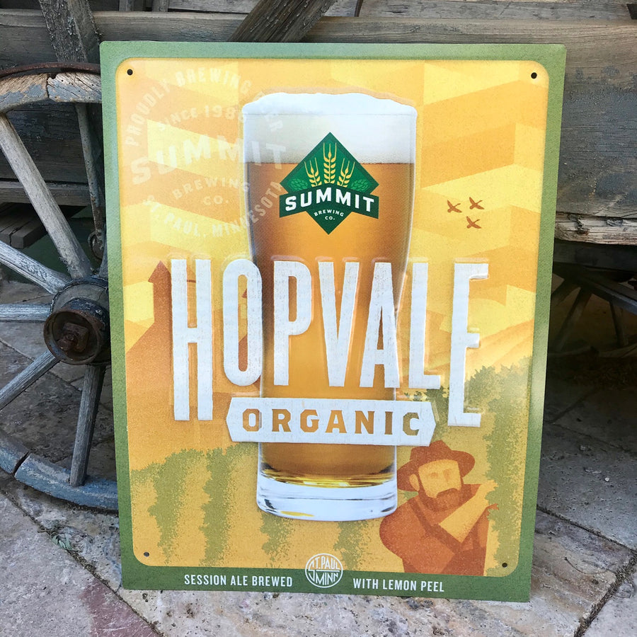 Summit Brewing Co Hopvale Tin Tacker Metal Beer Sign