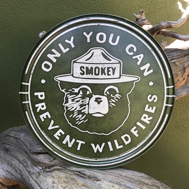 """Only You Can Prevent Wildfires"" Smokey the Bear Aluminum Sign"