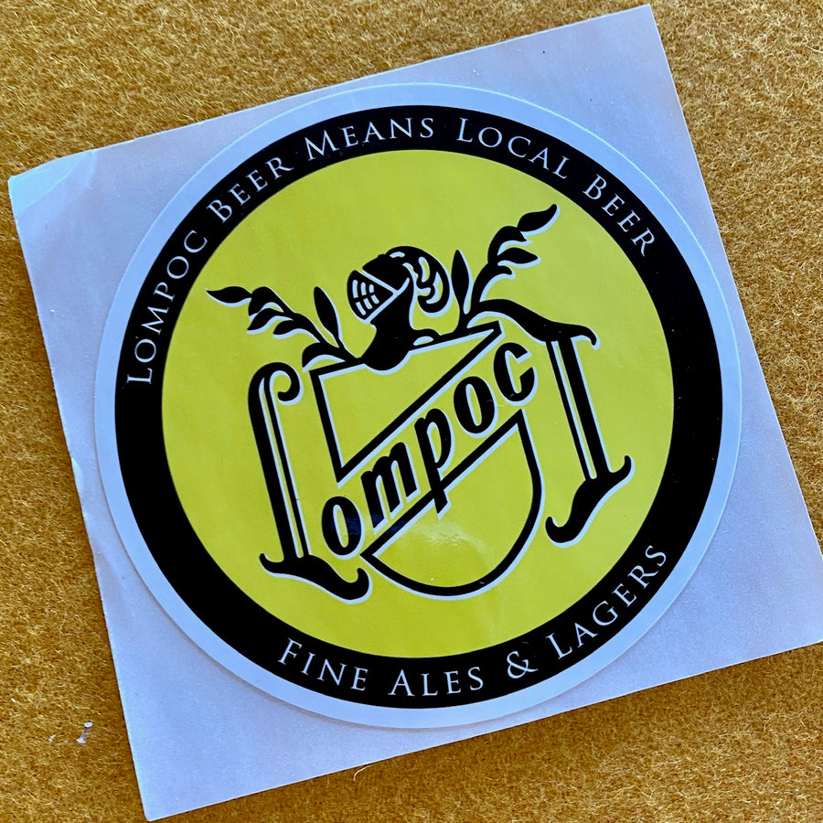 Lompoc Fine Ales & Lagers Sticker