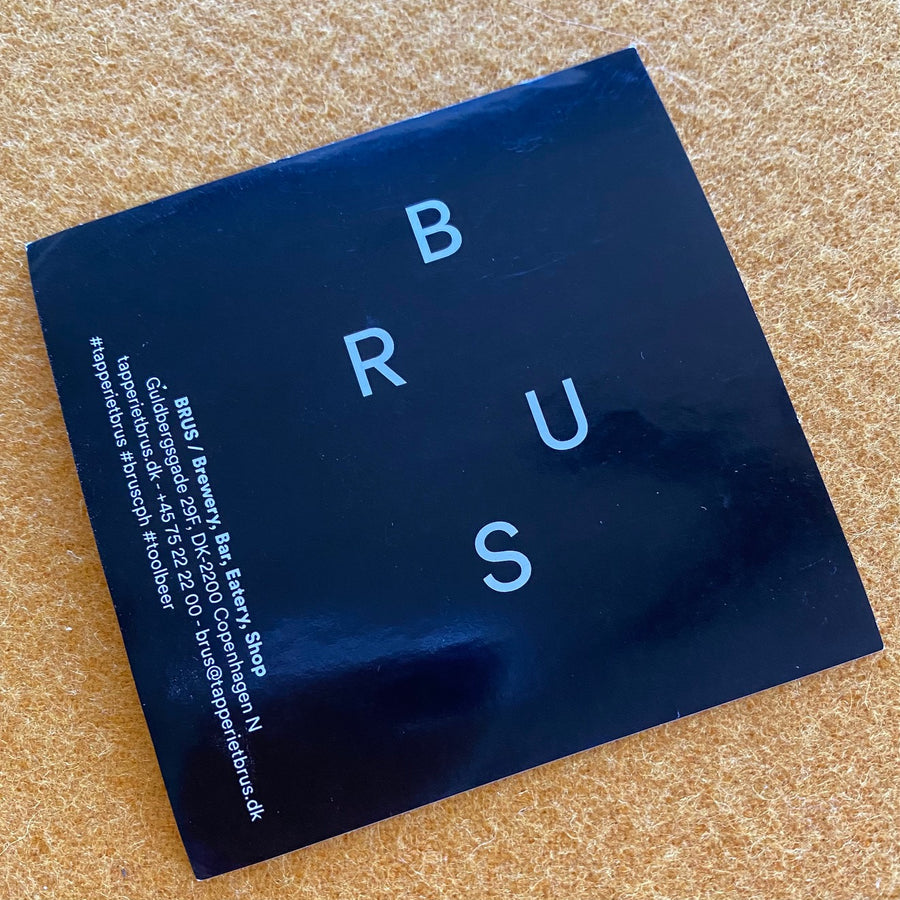 BRUS / Brewery, Bar, Eatery, Shop Sticker