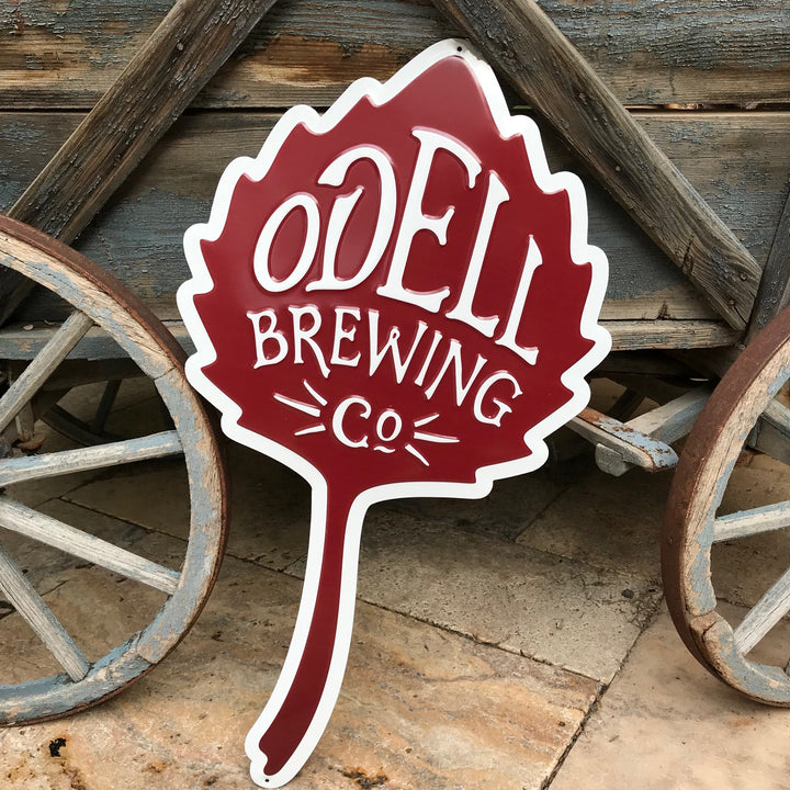 Odell Brewing Co Logo Tin Tacker Metal Beer Sign