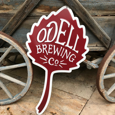 New Odell Brewing Co Logo Tin Tacker Metal Beer Sign