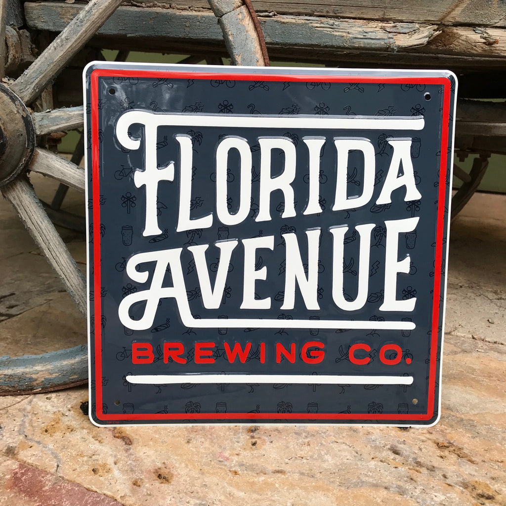 Florida Avenue Brewing Co Tin Tacker Metal Beer Sign