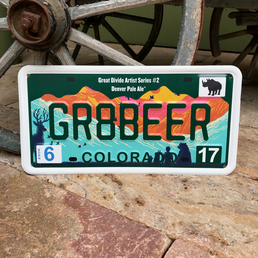 Great Divide Brewing Co Denver Pale Ale Commemorative License Plate Tacker