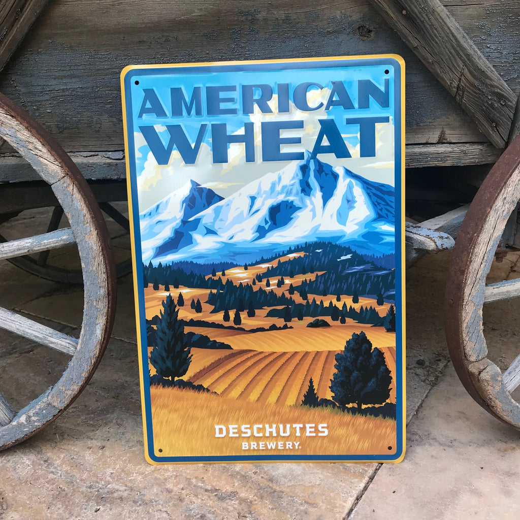 Deschutes Brewery American Wheat Tin Tacker Metal Beer Sign