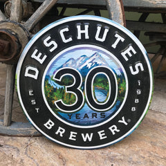 Deschutes Brewery 30th Anniversary LIMITED Tin Tacker Metal Beer Sign