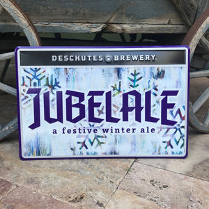 Deschutes Brewery Jubelale Winter Ale Tin Tacker Metal Beer Sign