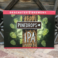 Deschutes Brewery Pinedrops IPA India Pale Ale Tin Tacker Metal Beer Sign