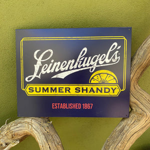 Leinenkugel's Summer Shandy Tin Tacker Metal Beer Sign