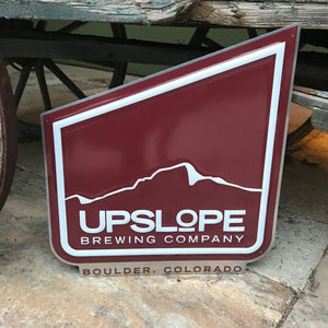 Upslope Brewing Co Small Logo Tin Tacker Metal Beer Sign